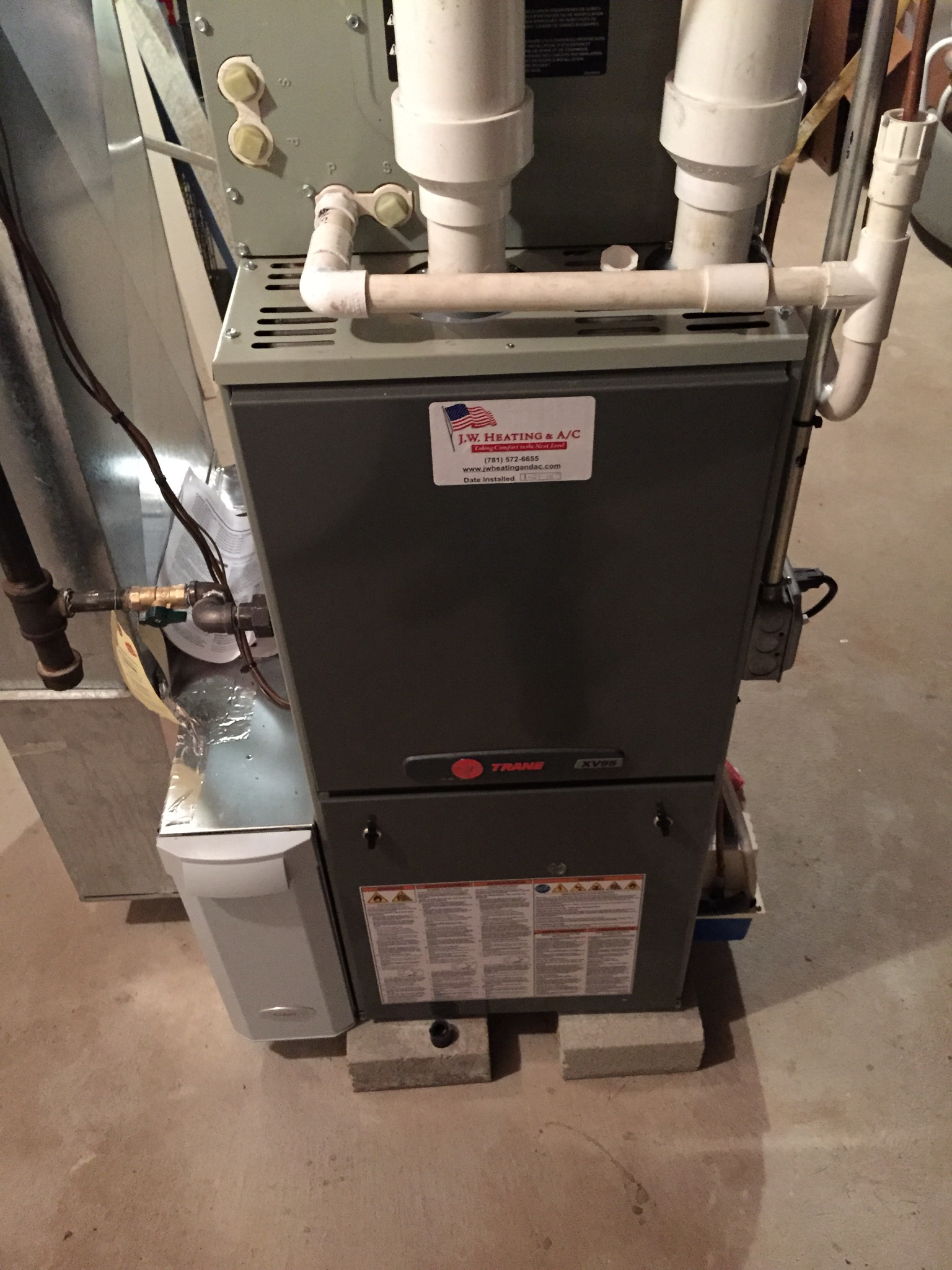 Water Heating Furnace ~ Wall hung instant water heater and gas furnace install