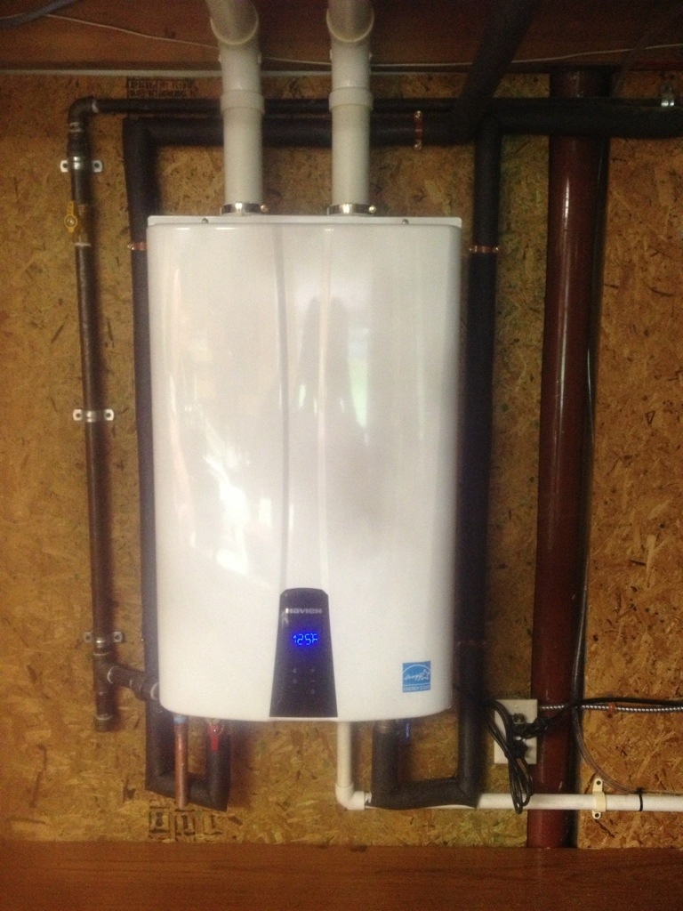 High efficiency wall hung hot water heater jw heating and ac for Efficient hot water systems