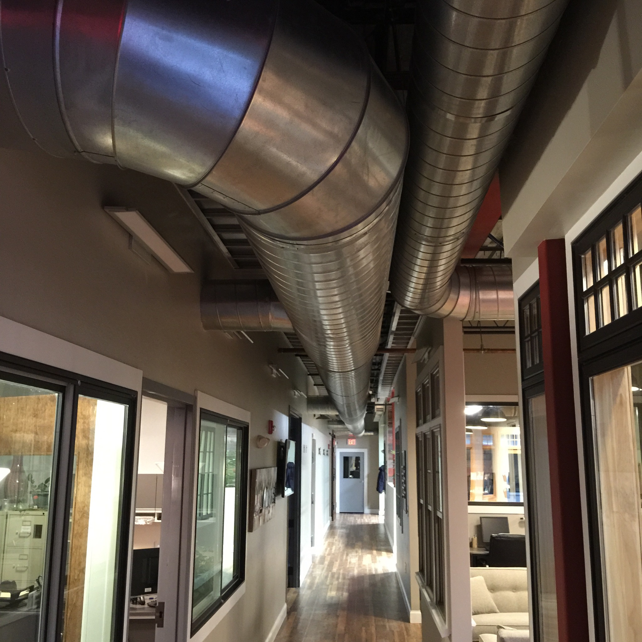 Exposed Spiral Duct : Commercial heating a c install ashland ma jw